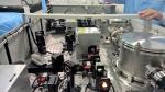 Vue du système optique qui génère le rayon laser. Ce dernier entrera en action avec le faisceau d'électrons pour produire la radiation gamma dans le système GammaS